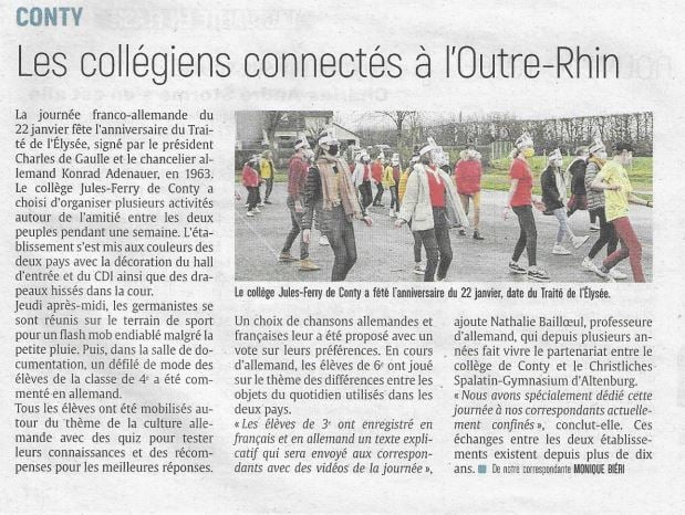 Article du Courrier Picard du 28 janvier 2021