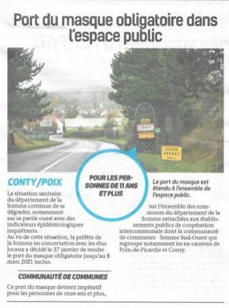 Article du Bonhomme Picard du 3 février 2021