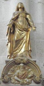 Vierge Marie en or