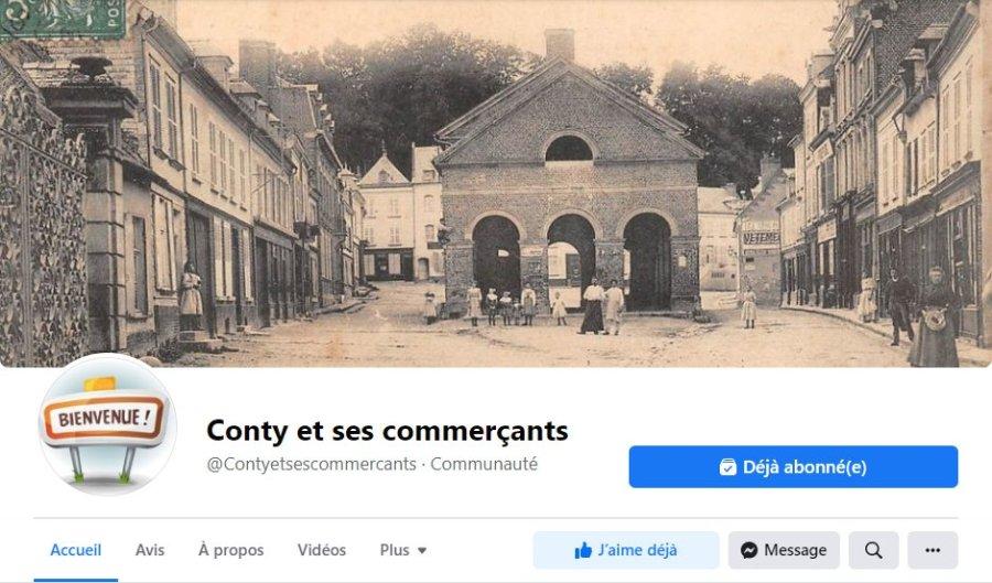 Facebook des commerçants de Conty