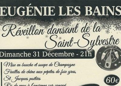 31 décembre – Réveillon St Sylvestre