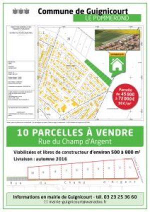 Parcelle disponible Pommerond Guignicourt