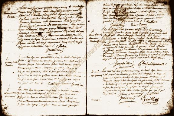 Registre des mariages 1787