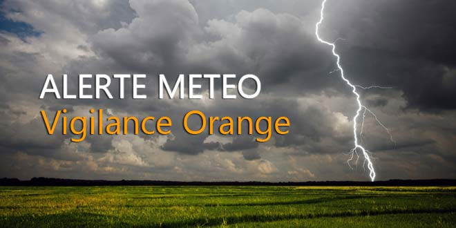 Alerte météo Verberie | Vigilance orange -> orages violents ! Soyez prudents !