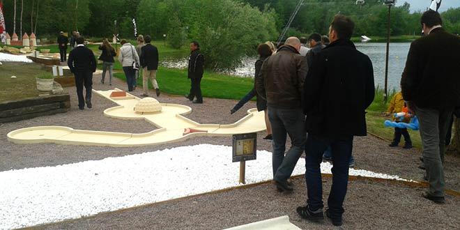 Inauguration du minigolf à Verberie