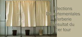Résultats du 1er tour des élections départementales à Verberie