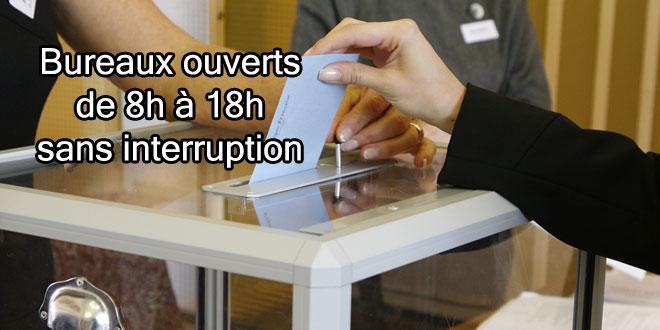 Élections : Les bureaux seront ouverts de 8h à 18h sans interruption.