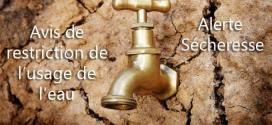 Alerte sécheresse : avis de restriction de l'usage de l'eau à Verberie