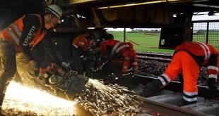 Travaux SNCF à la gare de Verberie d'avril à septembre 2016