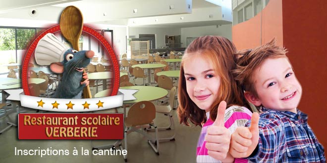 Inscriptions au restaurant scolaire de Verberie : c'est maintenant !