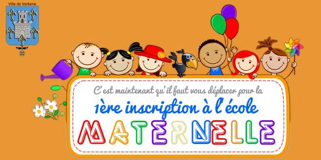 Les premières inscriptions pour l'école maternelle c'est dès maintenant !