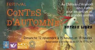 Les contes d'automne c'est le 12 novembre, réservez vite !