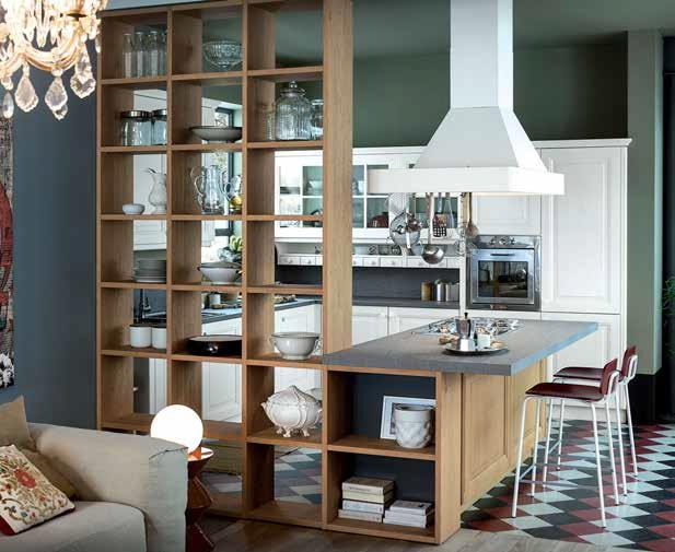 Nuove cucine living e fornelli in un spazio  VilleCasali