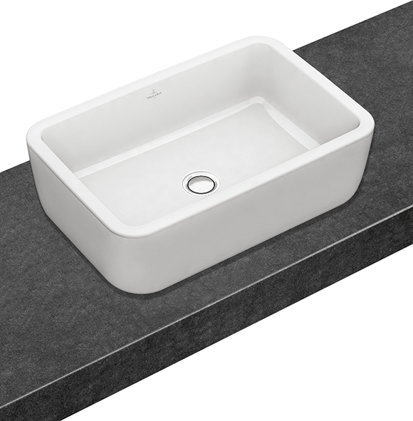 Architectura Surfacemounted washbasin rectangular Angular 4127U6  Villeroy  Boch