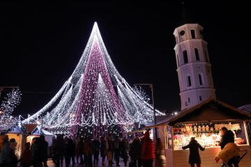Christmas tree and market in Vilnius