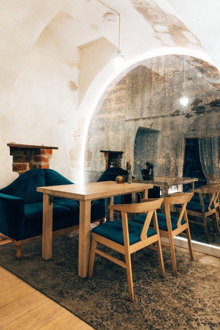 Interior at SAULA restaurant Vilnius