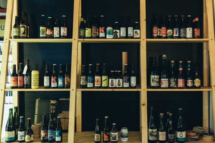 Selection of craft beers at Alaus Pirkliai in Vilnius