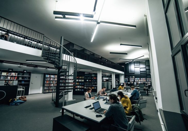 Reading place at the library in Vilnius