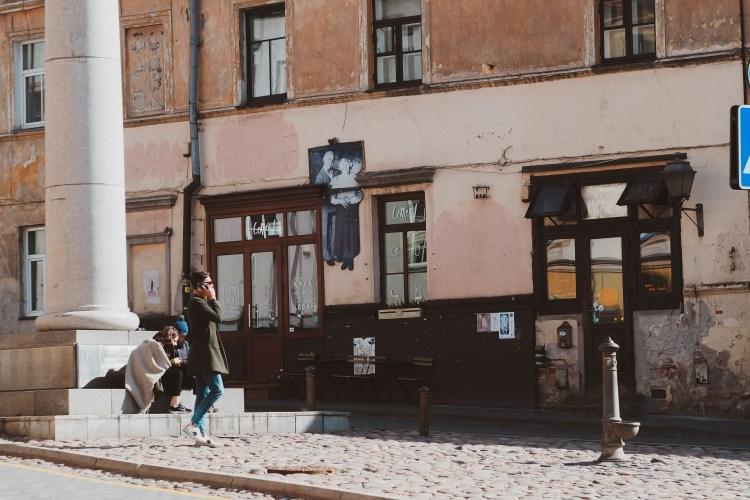 Artsy neighbourhood in Vilnius