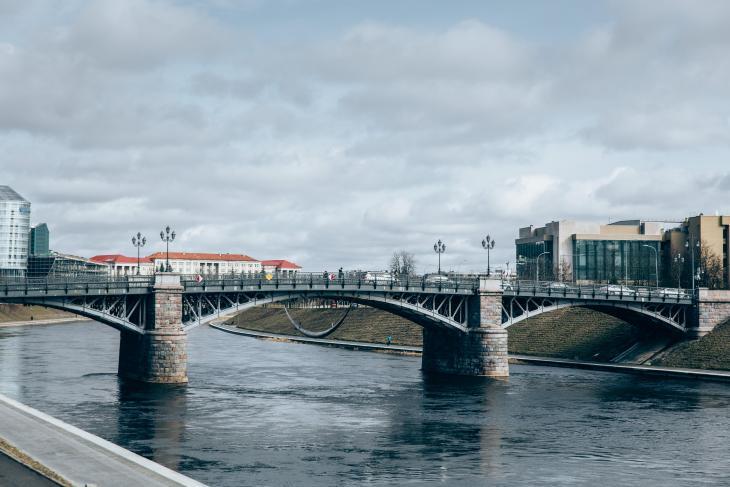 Zverynas bridge in Vilnius