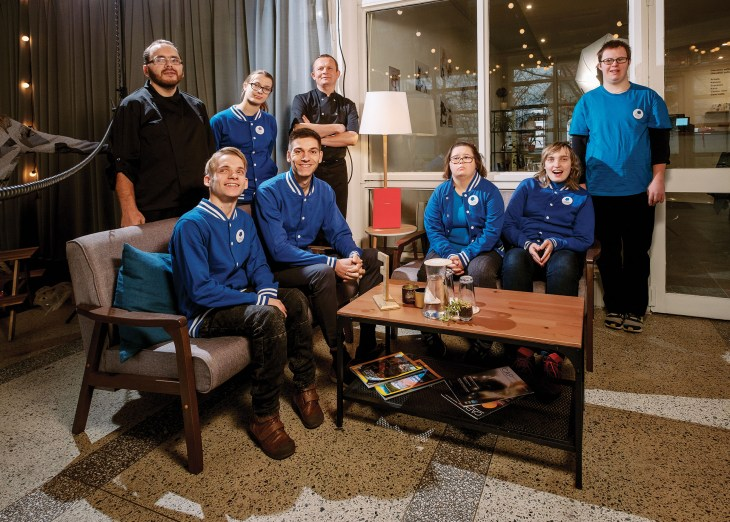 Team behind Pirmas Blynas social business employing disable