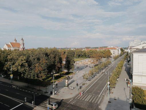 Vilnius overview. lukiskiu square