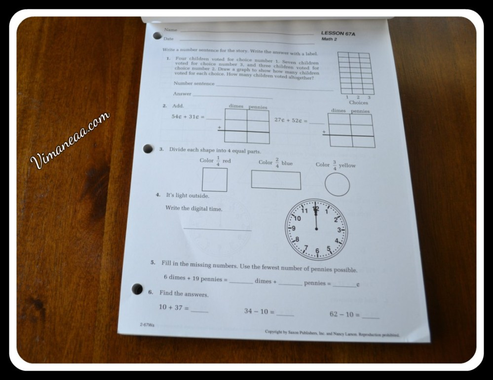medium resolution of Saxon Math Student Workbook Review   Vimaneaa -A Mom's Views Reviews and  Her Journey Through Motherhood!