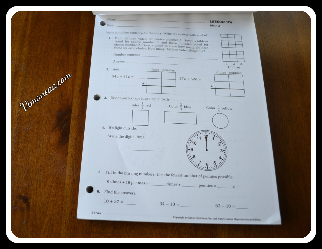 hight resolution of Saxon Math Student Workbook Review   Vimaneaa -A Mom's Views Reviews and  Her Journey Through Motherhood!