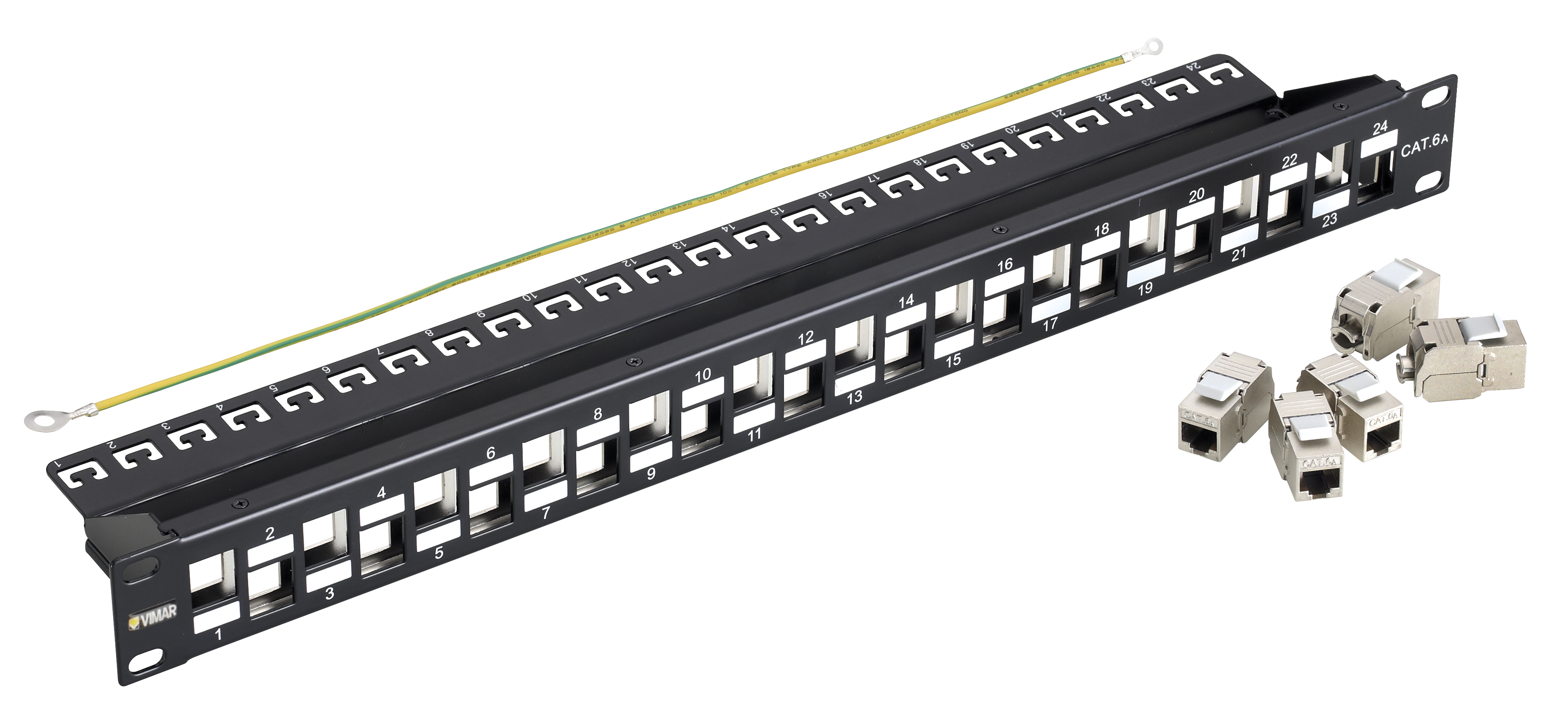cat6 patch panel wiring diagram drum switch single phase motor panels 24 rj45 cat6a ftp conn 1u