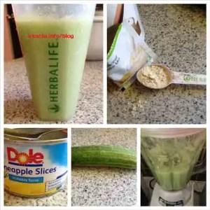 Herbalife Recipe: Cucumber Shake with Pineapple Slices