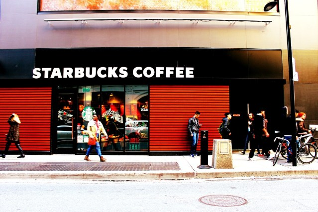 starbucks coffee shop somewhere