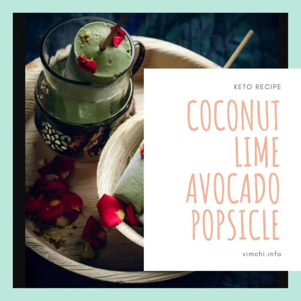 coconut lime avocado popsicle keto recipes
