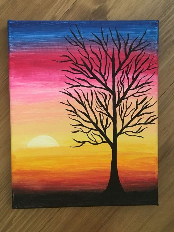 37 easy canvas painting