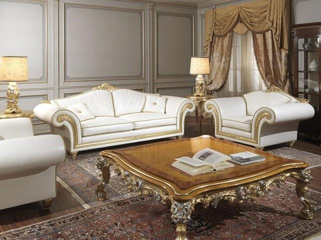 Imperial poltrone e divani classici in pelle beige