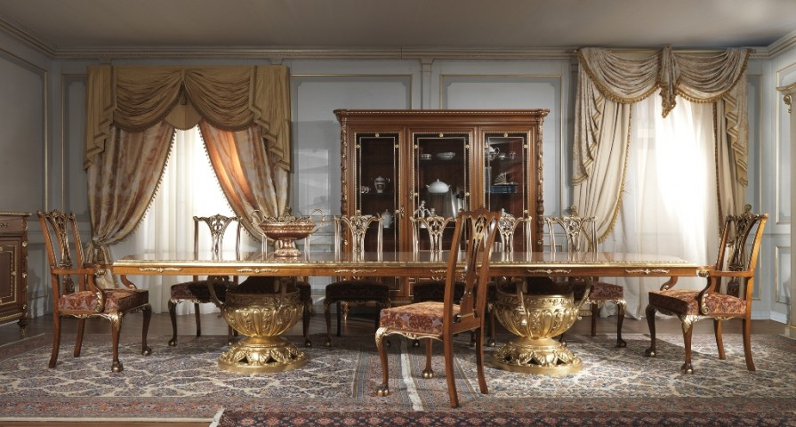 Style Luigi XVI for a dining room of classical elegance