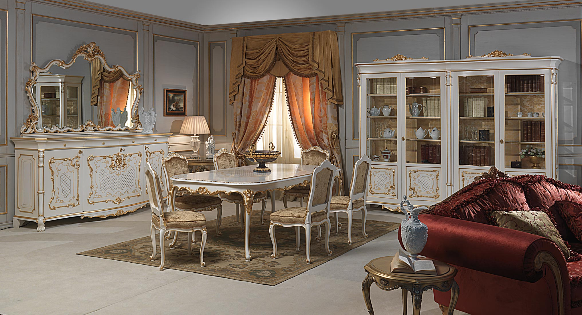 Venice dining table in Louis XV style  Vimercati Classic