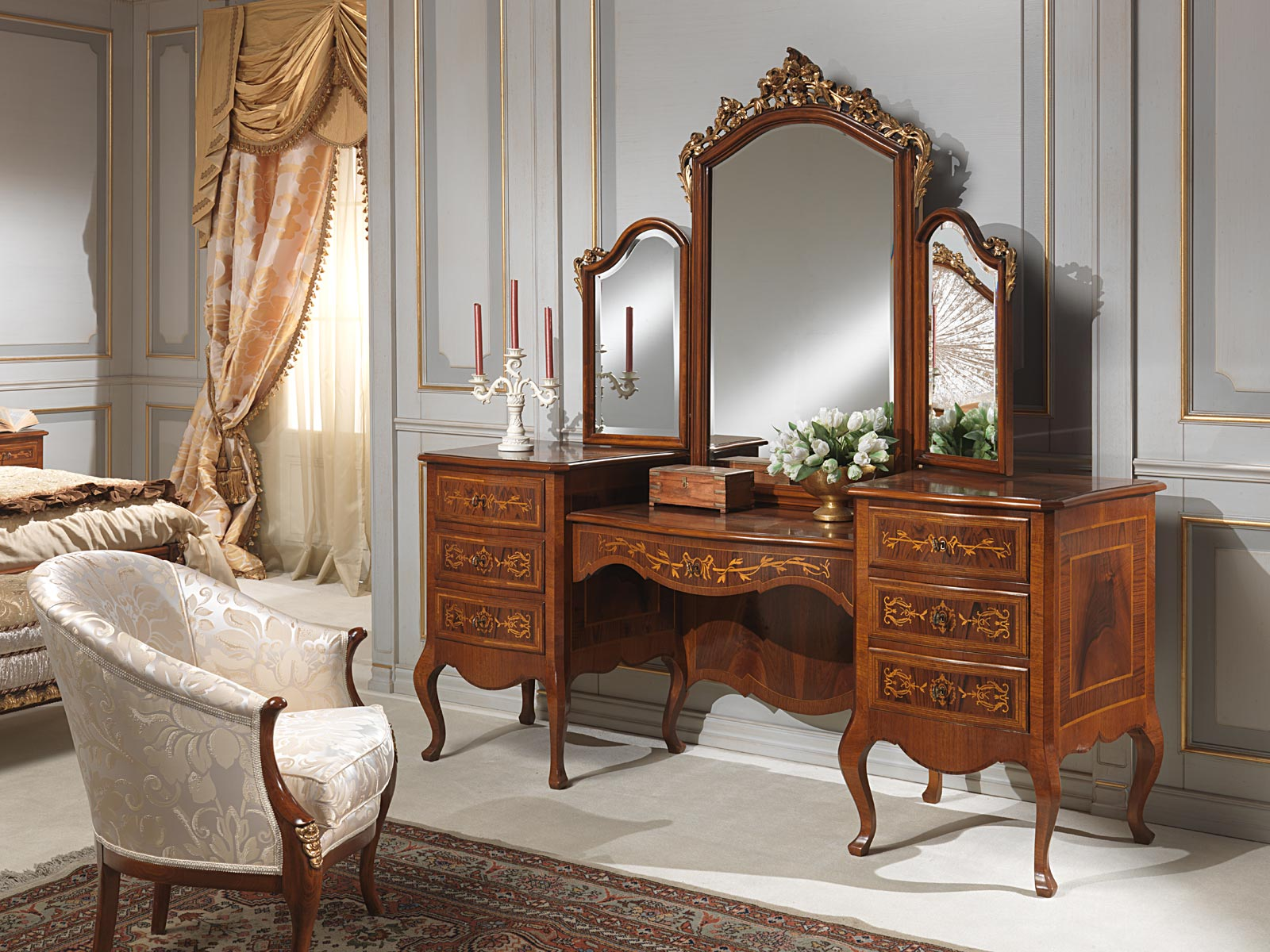 bedroom chair with table pre k tables and chairs classic louvre dressing mirror
