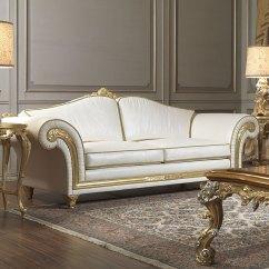 Sofa Classic Patio Furniture Imperial In White Leather Vimercati