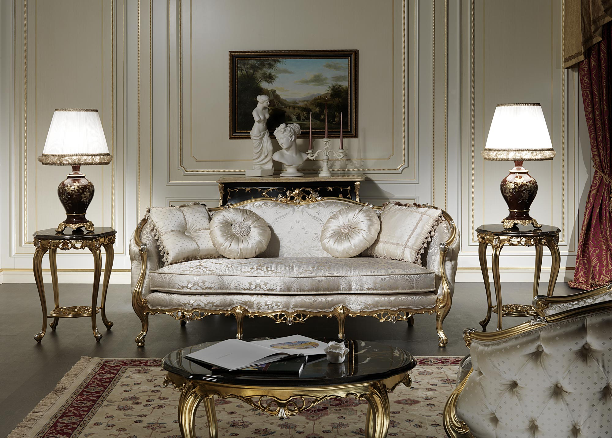 italian classic furniture living room beach cottage decorating ideas rooms sofa of the venezia collection vimercati