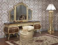 Elegant furniture for bedroom, Emperador Gold art. 397-931 ...