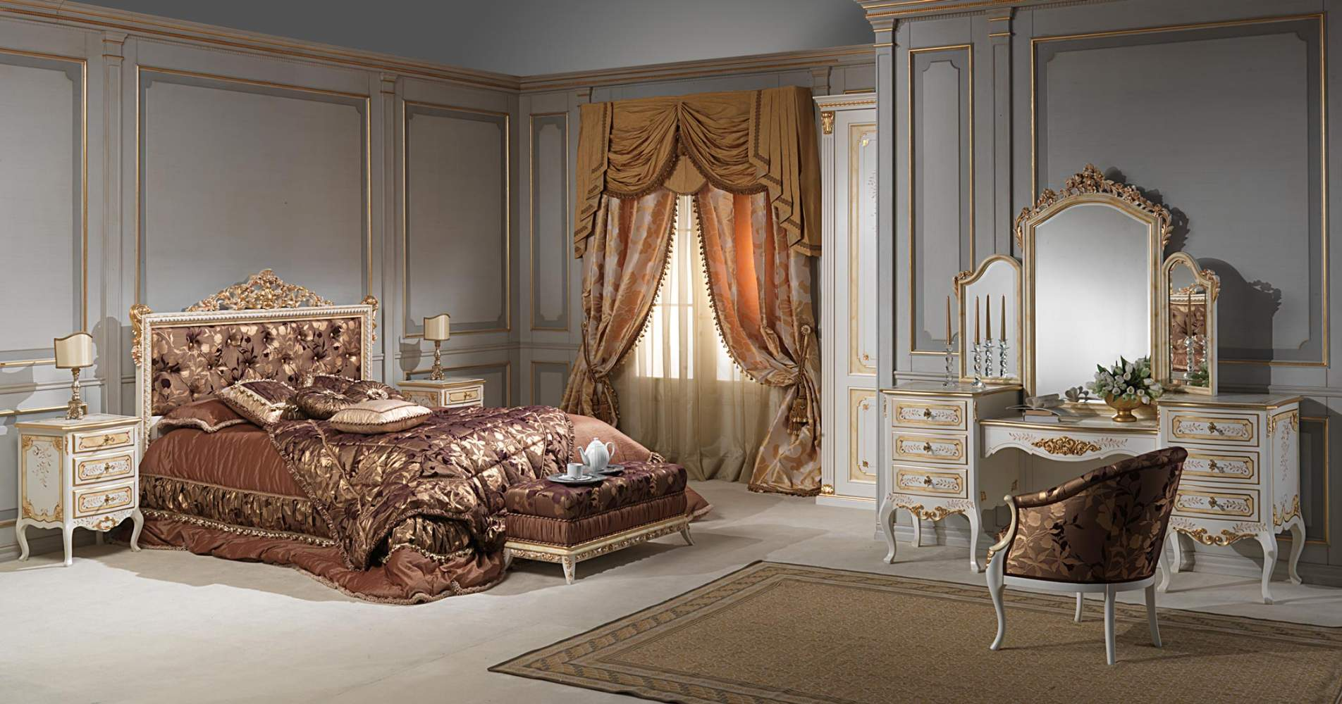 French baroque bedroom art 2009  Vimercati Classic Furniture