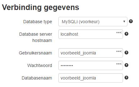 Verbindings gegevens