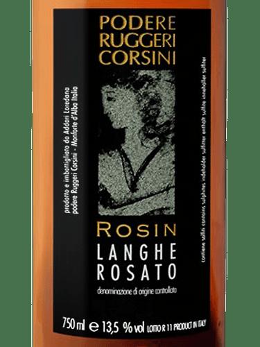 """Podere Ruggeri Corsini """"Rosin"""" Langhe Rosato 2018"""