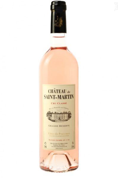 Vin rosé Château de Saint Martin 2018