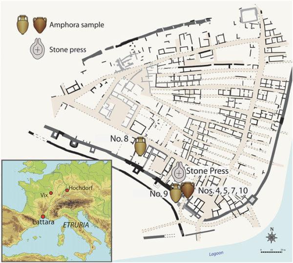 Ancien port de Lattara en France et où ont été retrouvées les Amphores