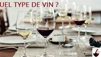 Quel type de vin pour les mets et les verres