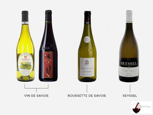 Appellations de vins AOC AOP de Savoie en France
