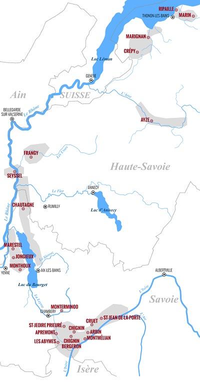 Carte des vins de France Savoie par Vin & Oenologie