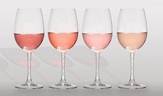 Couleurs du vin rosé
