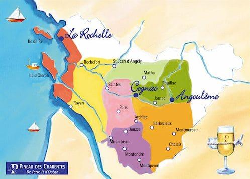 Carte AOP Pineau des Charentes